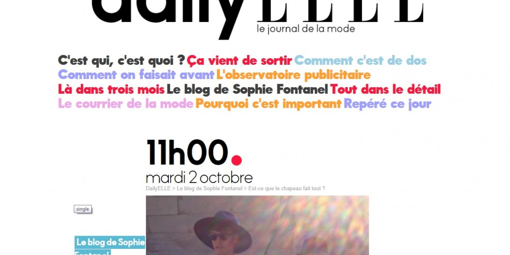 Lifestylehunters article on French Elle