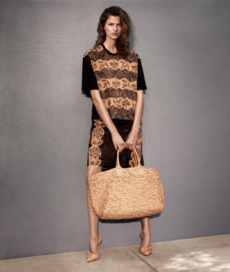 Bette Franke in new Bottega Veneta Cruise campaign