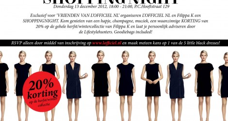 Shopping night with Filippa K, L' Officiel and us!