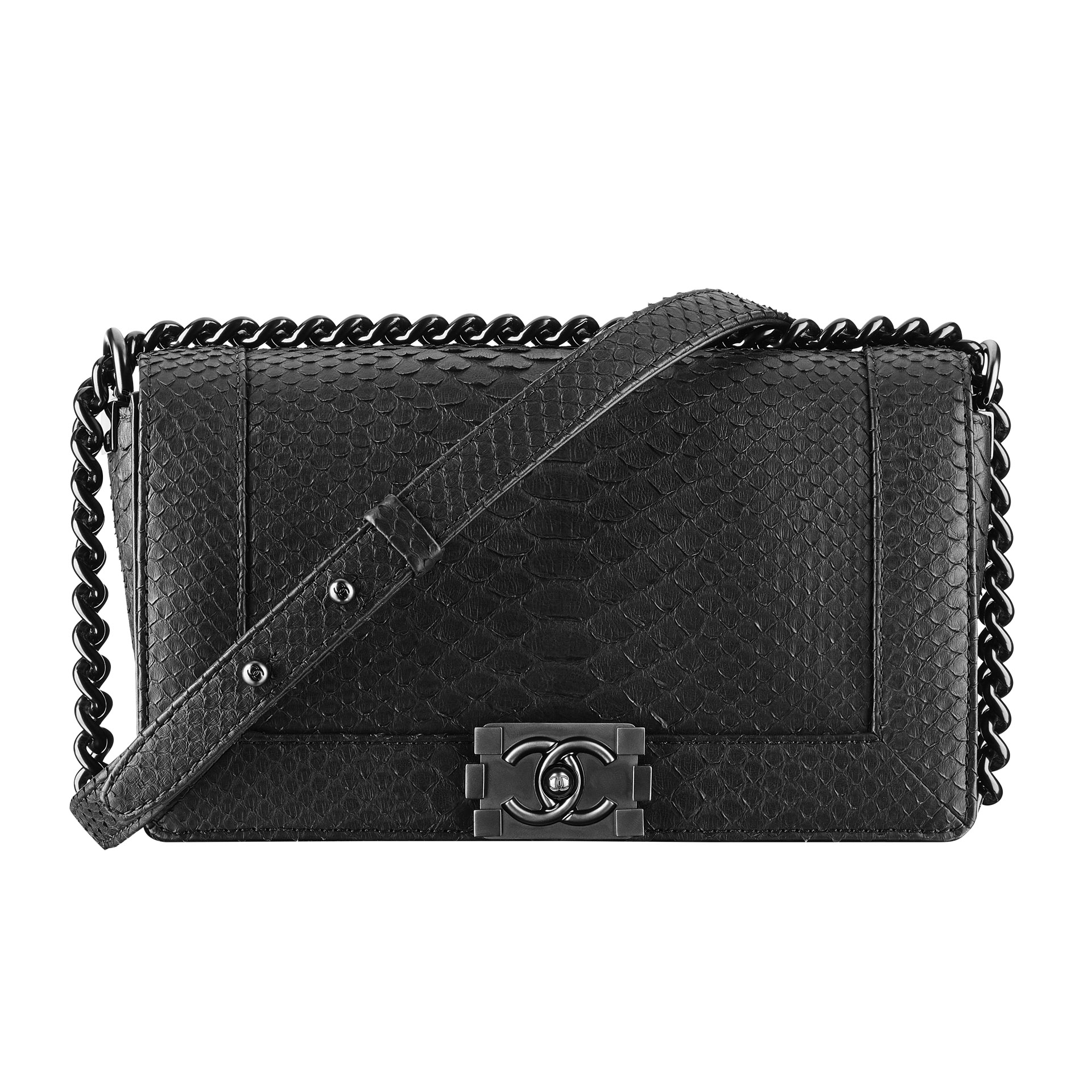 4 - Black-exotic-leather-BOY-CHANEL-bag