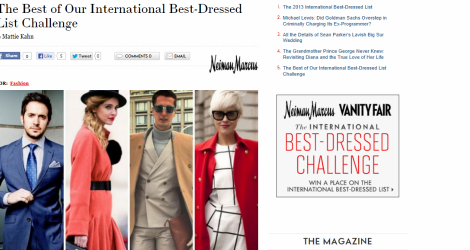 Vanity Fair Best Dressed 2013