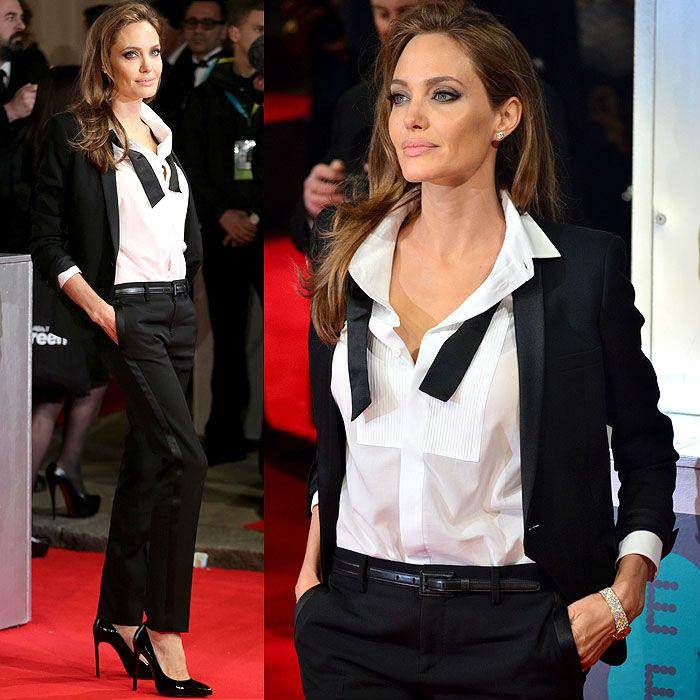 Angelina Jolie Tuxedo