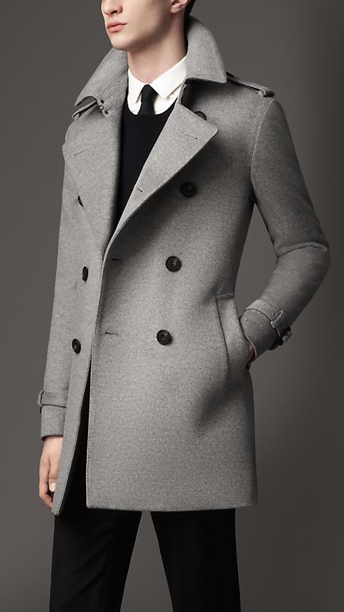 Grey Burberry coat
