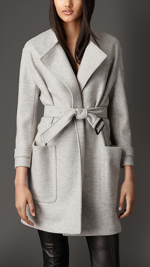 Wrap around Burberry coat