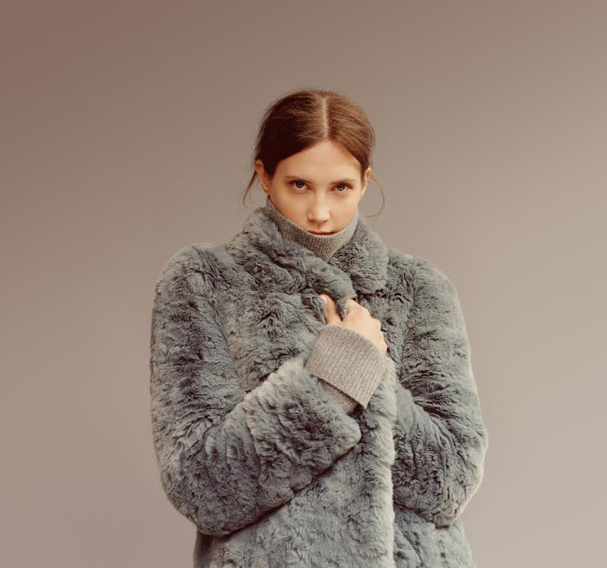 Whistles faux fur coat