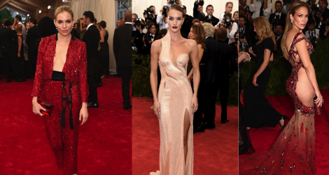 Met Ball 2015: Red, gold and booty