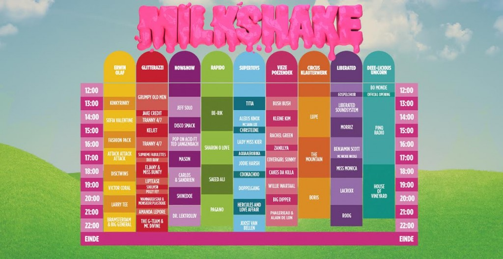 milkshake time table