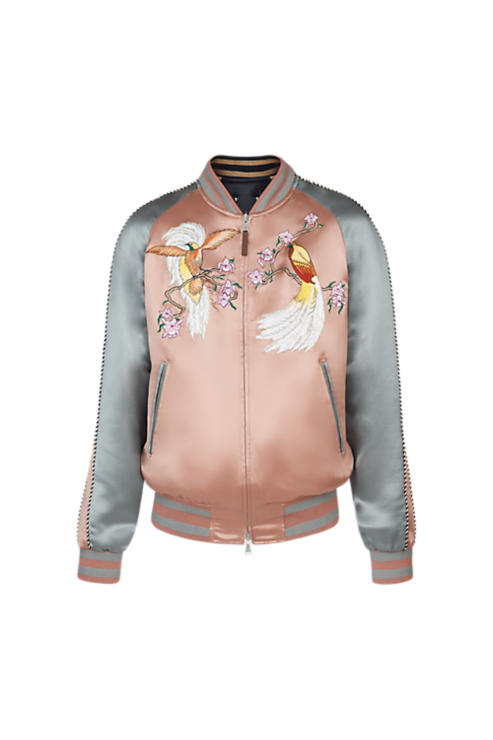 Silk Louis Vuitton bomber